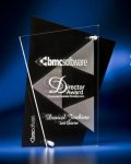 Abstract Clear and Black Acrylic Award Achievement Award Trophies