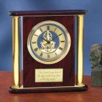 Large Clock with Exposed Gears Achievement Award Trophies