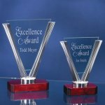 Triangle Glass Patriotic Awards