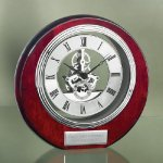 Circle Clock with Exposed Gears in Chrome Religious Awards