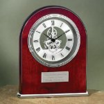 Arch Clock with Exposed Gears in Chrome Religious Awards