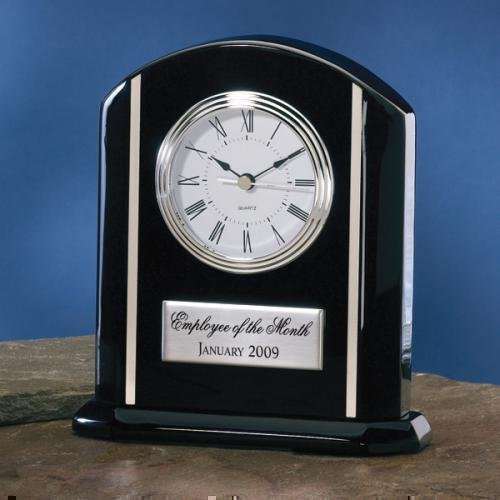 movement clock and recognition blue awards silver black products airflyte bezel desk glass groups hand clocks three